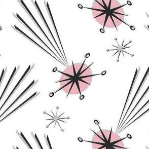 Pink Meteors on White