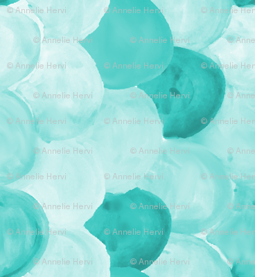 mint watercolor scallops 90 deg