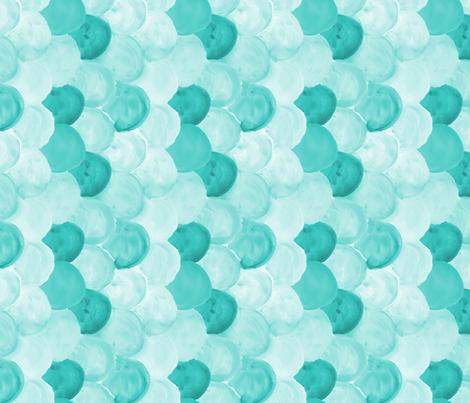 mint watercolor scallops 90 deg fabric by mrshervi on Spoonflower - custom fabric