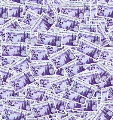 MN State Stamp Deeper Purple