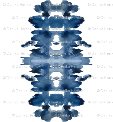 Single XL Indigo Ink Blot