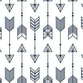 Navy Arrows on white