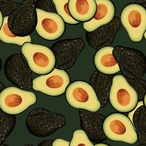 avocado pattern full size