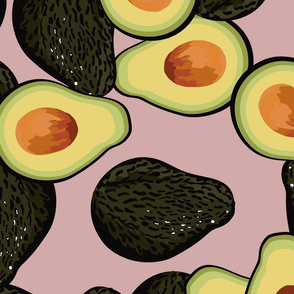 avocado pattern full size pink