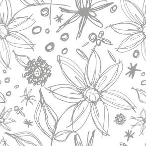 Light Grey Floral