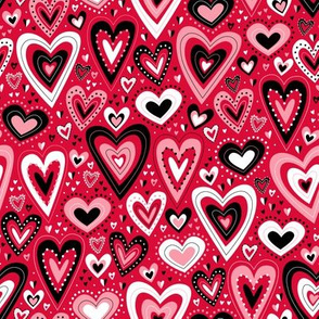 Lovely Hearts (Red)