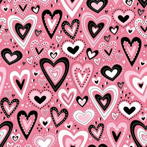 Lovely Hearts (Pink)