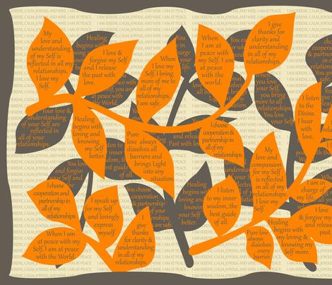 LEAF-SAAO sage green / almond oil  fabric by darrell_fleury on Spoonflower - custom fabric