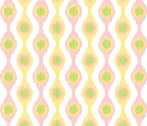 Ikat Stringed Beads Pastel Sherbet  fabric by wickedrefined on Spoonflower - custom fabric