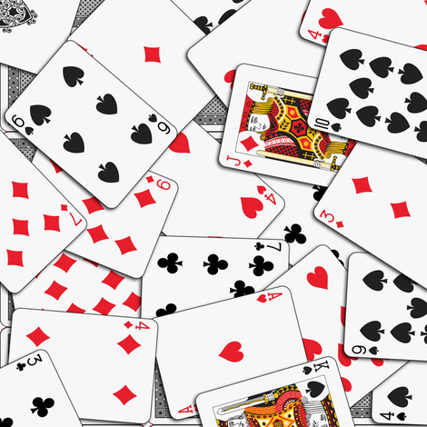 Playing cards Pattern 1.971 x 2.75 - Black Backs fabric by stradling_designs on Spoonflower - custom fabric