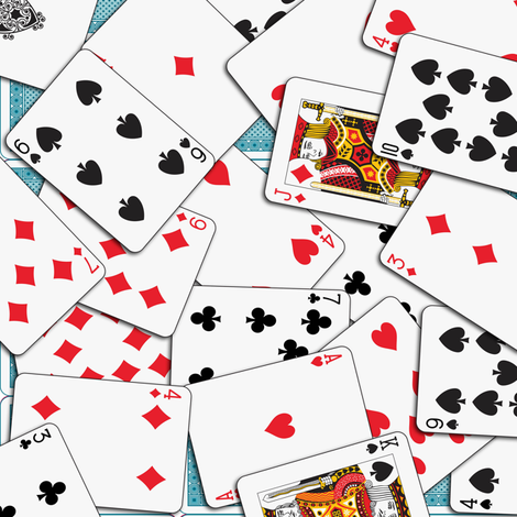 Playing cards Pattern 1.971 x 2.75 - Blue Backs fabric by stradling_designs on Spoonflower - custom fabric