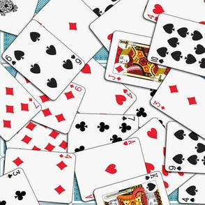 Playing cards Pattern 1.971 x 2.75 - Blue Backs