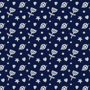 Dots & Doodles in Navy