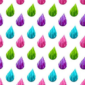 Scandinavian raindrop multicolor // pink // purple // turquoise // green //