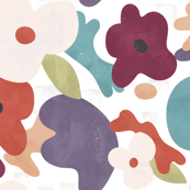 Bold Abstract Floral Large-scale