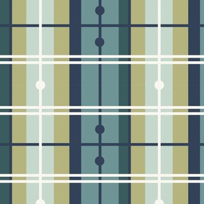 Mermaid Plaid - Green, Navy