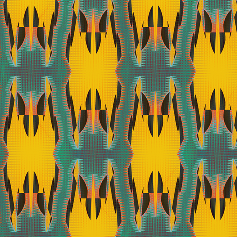 Monarch (Sea Green) fabric by david_kent_collections on Spoonflower - custom fabric