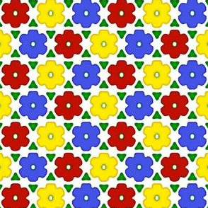 Tile Me a Garden (primary colors)