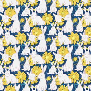 Bunnies in the Daisies