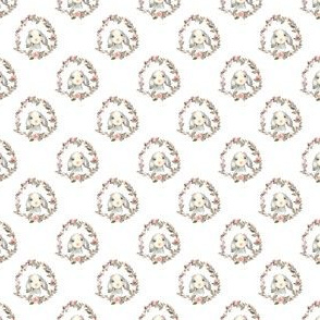 """1.5"""" Pink Bunny with Bow"""