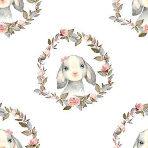 """8"""" Pink Bunny with Bow"""
