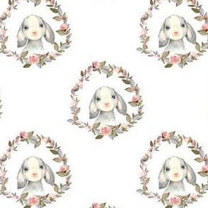 """4"""" Pink Bunny with Free Falling Flowers"""