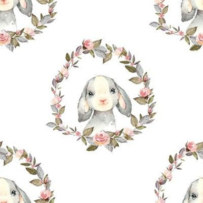 """8"""" Pink Bunny with Free Falling Flowers"""