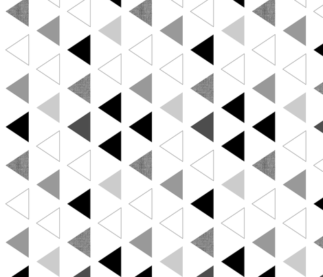 Black & white triangles 90 deg  fabric by mrshervi on Spoonflower - custom fabric