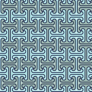 Secret Passage* (Camouflage) || Egypt Egyptian geometric meander interlocking polka dots optical illusion