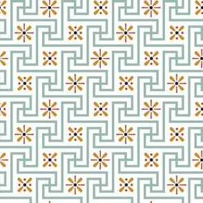 Floral Meander* (Camouflage) || geometric Egypt Egyptian flowers asterisk flower floral vintage