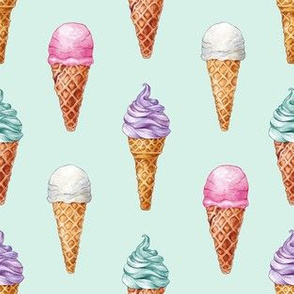 Vintage Ice Cream Cones // Mint