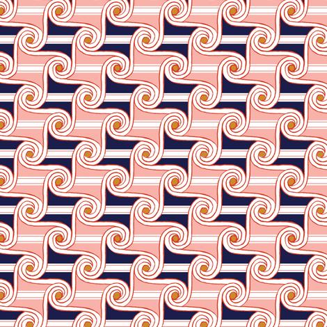 Scrolls & Stripes* (Mona) || Egypt Egyptian geometric hand drawn waves fabric by pennycandy on Spoonflower - custom fabric