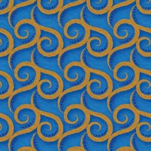 Roses Blue & Gold - 6