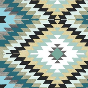 blue kilim southwestern