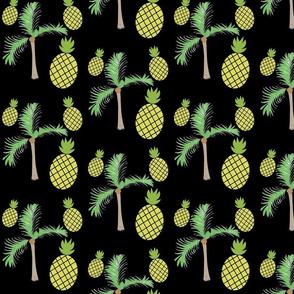 pineapple palms 525 on black