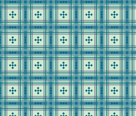 Preppy Plaid in Blue Green 2 fabric by mel_fischer on Spoonflower - custom fabric