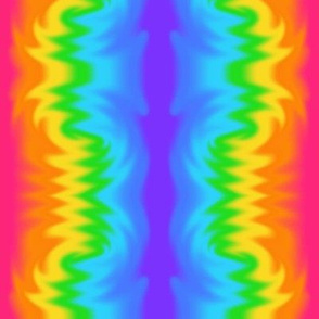 Rainbow Tie Dye Electric Wave