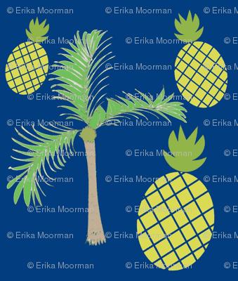 pineapple palms 525 on ocean