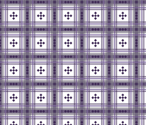 Preppy Plaid in Plum and Gray fabric by mel_fischer on Spoonflower - custom fabric