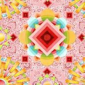 Pink Paisley Sunshine Mandala