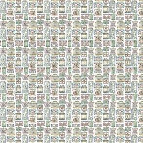 Tea Tins - Watercolor - Dollhouse Ditsy