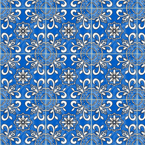 spanish tile (aquamarine blue)
