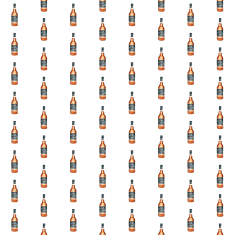 """whiskey bottle - small 1"""" x 1"""" fabric by knitifacts on Spoonflower - custom fabric"""