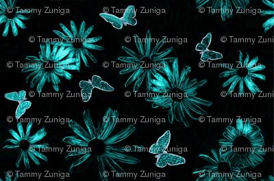 blue daisies ink