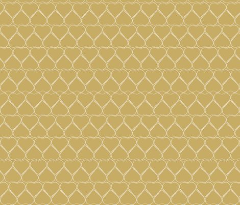 Gold Hearts fabric by chubbellart on Spoonflower - custom fabric