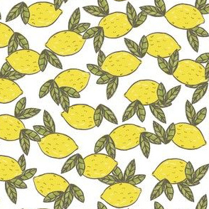 lemon leaves white