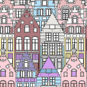 Coloring_Book_-_Stepped_Gables by meowandcraft