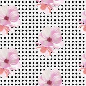 Polkadot Magnolia White