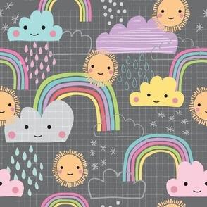 Sunshine and Rainbows in Grey