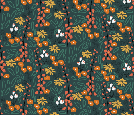 Bright_floral fabric by erinsternbergdesigns on Spoonflower - custom fabric